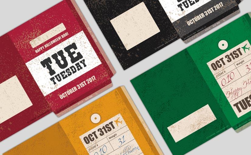 Freebie – Printable Oct Paper Bags
