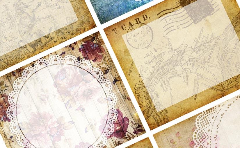 Freebie – Vintage style memo papers