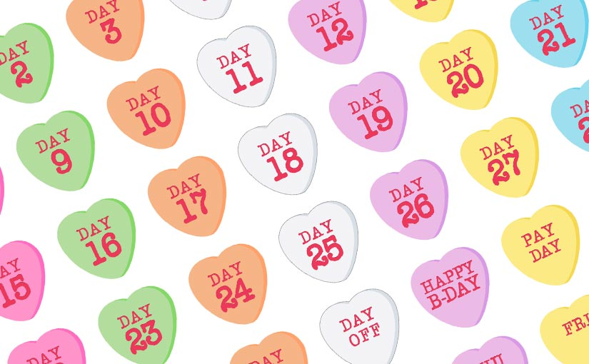 Candy Hearts Date Stickers