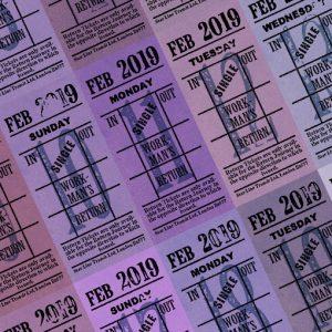 朝凪チケット日付シート 2019年2月版