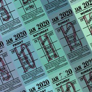 朝凪チケット日付シート 2020年1月版
