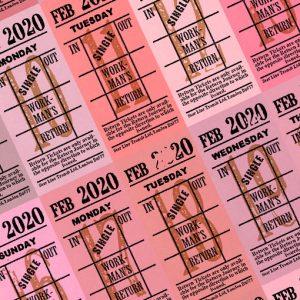 朝凪チケット日付シート 2020年2月版