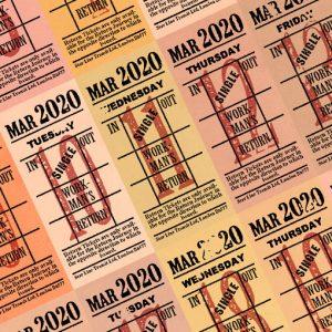朝凪チケット日付シート 2020年3月版