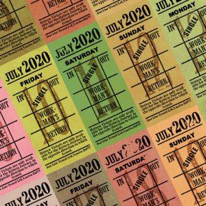 朝凪チケット日付シート 2020年7月版