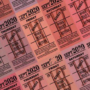 朝凪チケット日付シート 2020年9月版