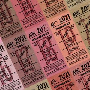 朝凪チケット日付シート 2021年8月版