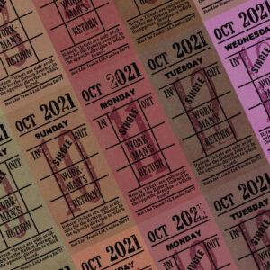 朝凪チケット日付シート 2021年10月版
