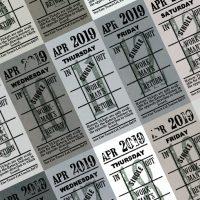 朝凪チケット日付シート 2019年4月版