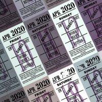朝凪チケット日付シート 2020年4月版