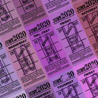 朝凪チケット日付シート 2020年6月版