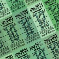 朝凪チケット日付シート 2021年6月版