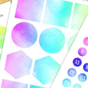 Water marble date sheets & memo set