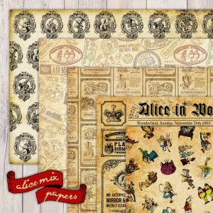 Alice in wonderland paper set available!
