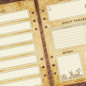 Freebie! Alice's weekly journal pages