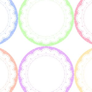Freebie Pop-color doilies