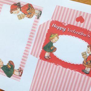 Freebie Valentine's Mini Letter Writing Set