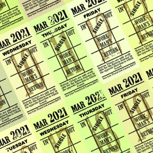 Ticket style date-sheet, March 2021