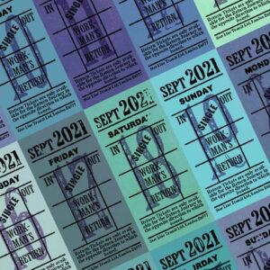 Ticket style date-sheet, September 2021