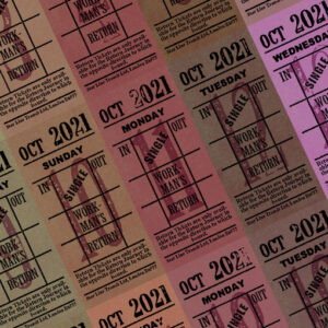 Ticket style date-sheet, October 2021
