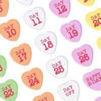 Freebie - Candy Hearts Date Stickers